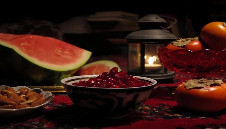 آجیل و میوه خوری یلدا