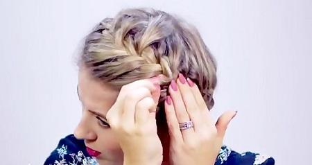 بافت موی کوتاه به شکل شینیون