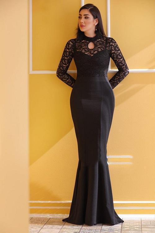 لباس مجلسی بلند گیپور