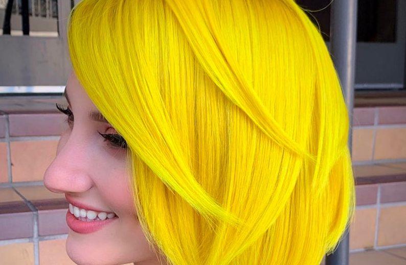 رنگ مو زرد