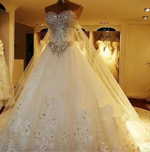لباس عروس پرنسسی دکلته