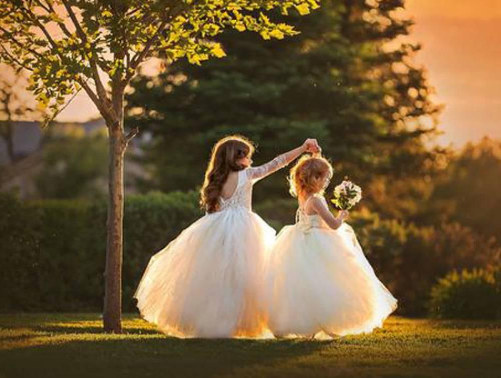 لباس عروس بچه گانه جدید