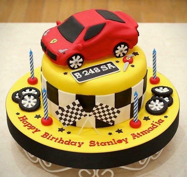 تزیین کیک تولد پسرانه