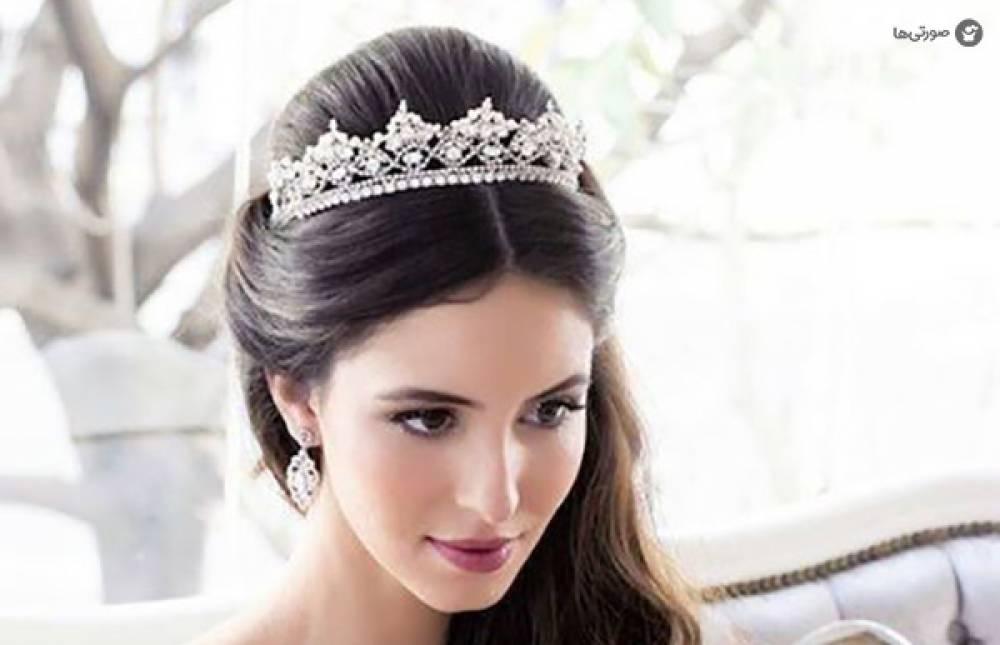 مدل تاج عروس ملکه ای