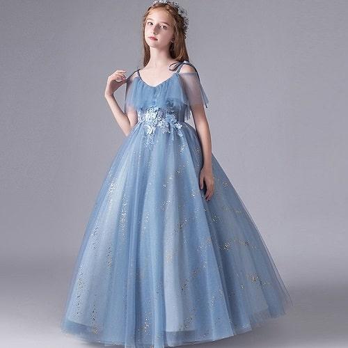 لباس مجلسی دخترانه آبی