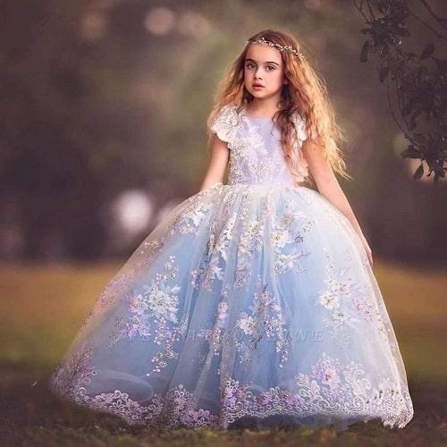 لباس مجلسی دخترانه سیندرلایی