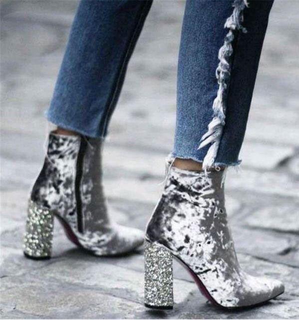 کفش پاشنه پهن مجلسی