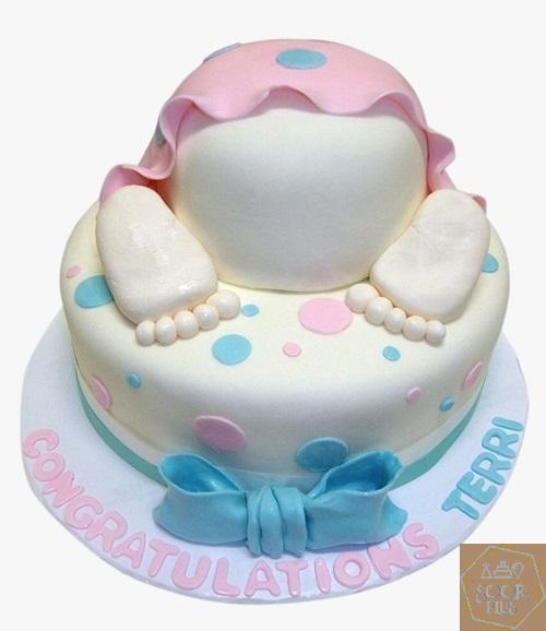 کیک تولد برای نوزاد