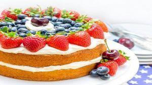 طرز تهیه کیک میوه ای