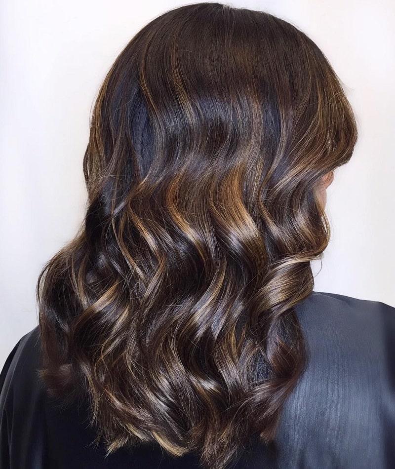 رنگ موی سیاه طلایی