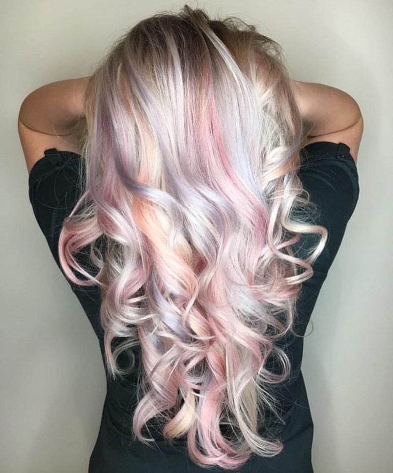 رنگ موی بالیژ پاستلی