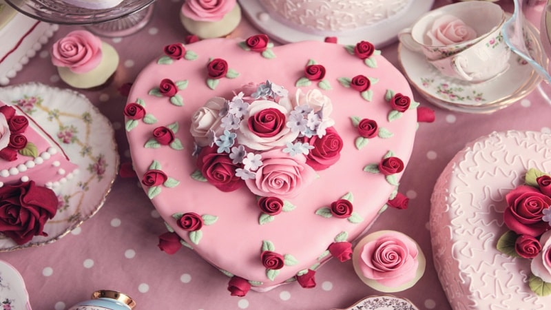 ایده برای تزئین کیک ولنتاین
