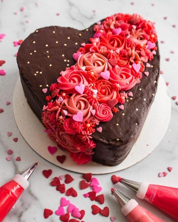 کیک شکلاتی ولنتاین
