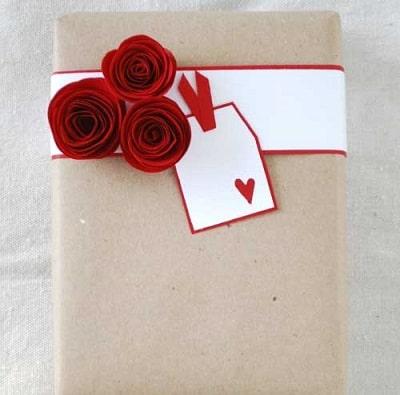 تزیین کادو برای ولنتاین
