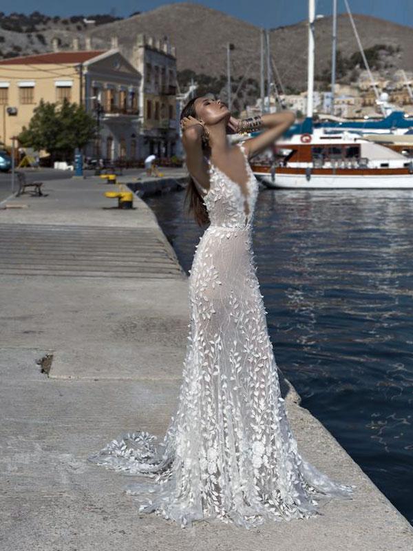 لباس عروس گل برجسته
