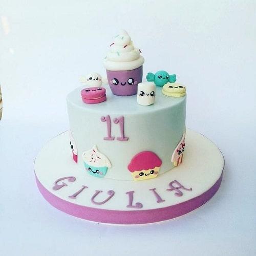 کیک تولد دوطبقه ای