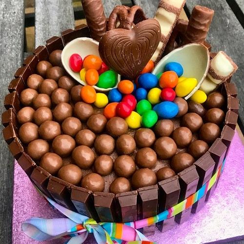 کیک تولد از شکلات