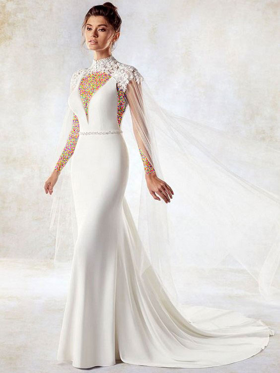 مدل لباس عروس آستین حلقه ای