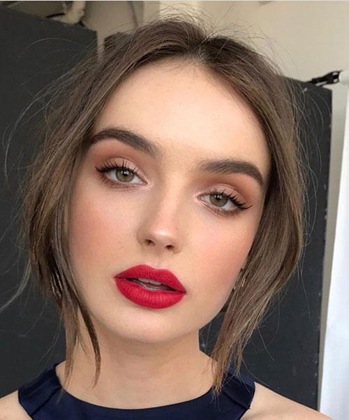 آرایش مناسب رژ قرمز