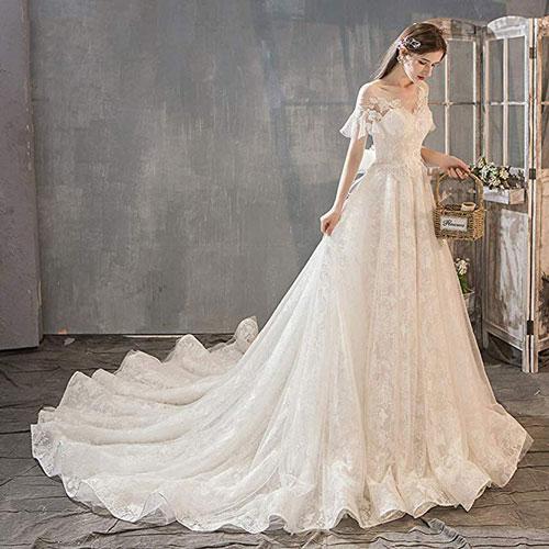 انتخاب لباس عروس برای قدبلندها