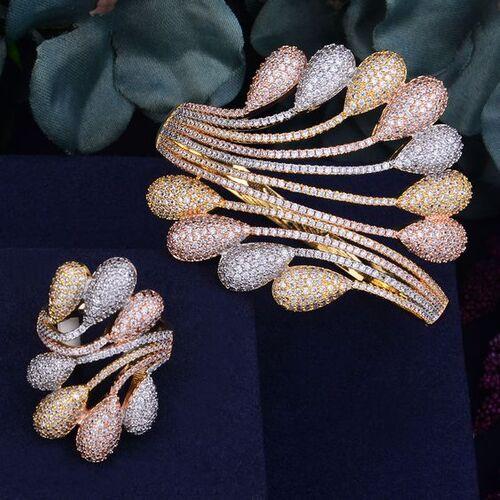 ست دستبند و انگشتر لاکچری