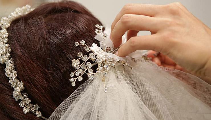 تور عروس سرشانه